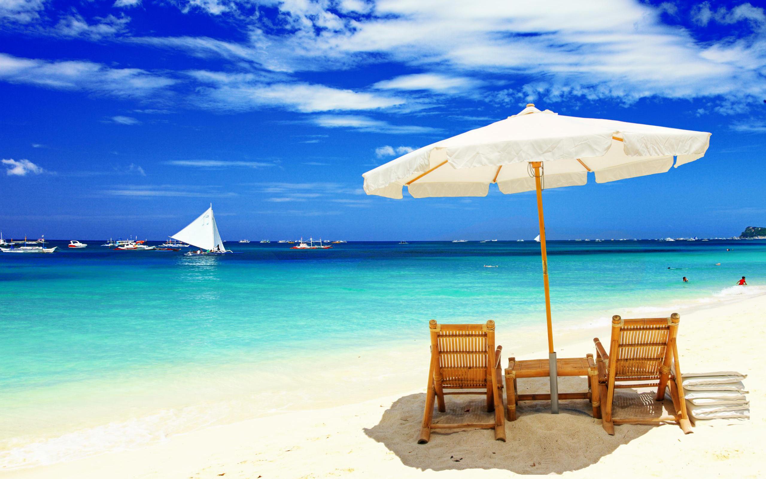 Beach Fun With Shade From The Sun